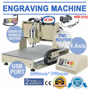 Usb 4axis 6040t Cnc Router Engrave Machine 1500w Vfd Ball Screw Remote Control