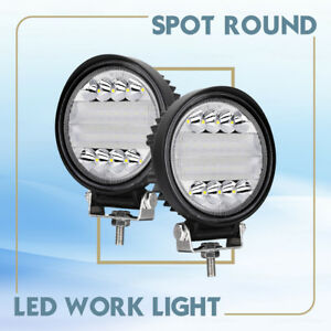 5 round Offroad Led Flood Work Lights Driving Roof Car Atv Suv Motorcycle Backup