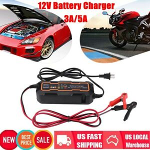 6v 12v 3a 5a Automatic Smart Battery Charger For Car Truck Motorcycle Boat Agm