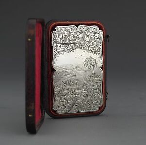 Antique Victorian Sterling Silver Visiting Card Case Edward Smith Birm 1844