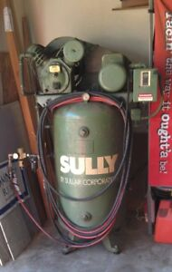 Sully Sullair Air Compressor 80 Gallon 5hp 220v Single Phase