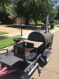 Bbq Trailer Fish Fryer Charcoal Grill