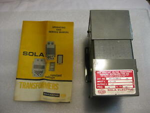 Sola 23 13 060 2 Constant Voltage 118 Volt Transformer New