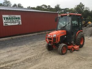 2008 Kubota B3030 4x4 Compact Tractor W 60 Belly Mower Cab