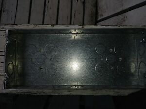Lot Of 3 Raco Galvanized Steel Electrical Boxes 72 8 Cu In