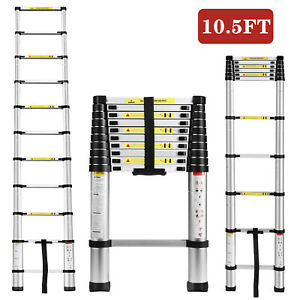10 5ft Multi Purpose Aluminum Ladder Fold Step Telescopic Extend Garden Tools