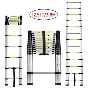 12 5ft Aluminium Ladders Telescoping Multi purpose Extension Folding Step Ladder