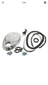 Sbc Chevy 2 Piece Chrome Timing Chain Cover 283 305 327 350 400 Small Block