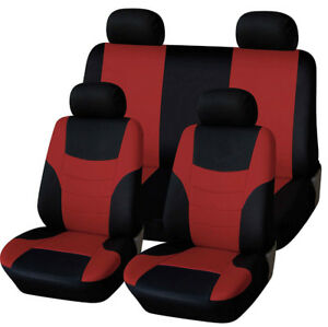Car Seat Full Cover Universal Styling Red Seat Protector Interior Design Supplie