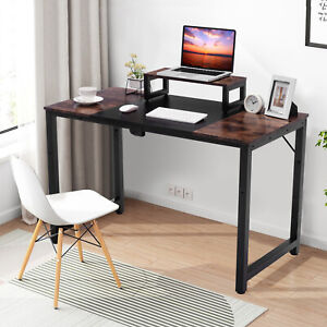Homeoffice Computer Desk Pc Laptop Work Study Table Writing Splice Monitor Stand