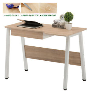 Computer Desk Laptop Table Wood Workstation Study Home Office Furniture W drawer