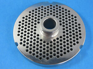32 X 3 16 Meat Grinder Plate W Hub Stainless Fits Hobart Biro Lem