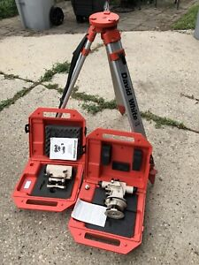 David White Surveying Equipment Alt6 900 Level Alm8 22m Auto Level 9450 Tripod