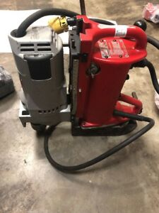 Milwaukee Magnetic Electromagnetic Drill Press Base 4292 1 Drill Motor