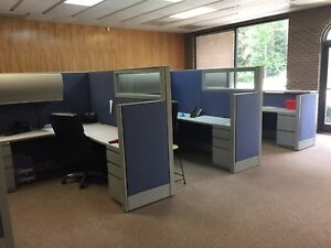 8 Office Cubicles With Desk Drawers And Cabinets Haworth Cubicles