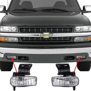 Replacement Clear Fog Lights For 1999 2000 2001 2002 Silverado 1500 2500