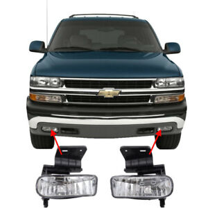 Replacement Clear Fog Lights For 2000 2001 2002 2003 2004 2005 2006 Tahoe
