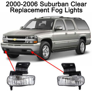 Replacement Clear Fog Lights For 2000 2001 2002 2003 2004 2005 2006 Suburban