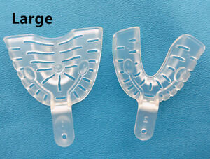 Dental Middle Alginate Impression Tray Inlay Clear Autoclave 121