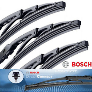 Bosch Direct Connect Wiper Blades 20 20 17 Front Left Right Rear Set Of 3