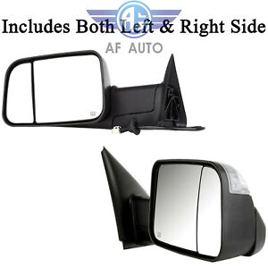 For Dodge Ram 98 01 1500 98 02 2500 3500 L R Power Heated Telescoping Tow Mirror