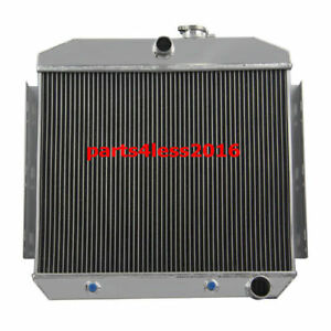 3 Row Full Aluminum Radiator For 1955 1956 Chevy Belair V8 Engines With 6cyl