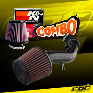 For 08 12 Chevy Malibu 2 4l With Air Pump Black Cold Air Intake K