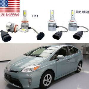 4pc 72w Car Cob Led Headlight Hi low Beam Bulbs Kit 6000k For Toyota Prius 10 15
