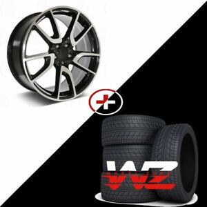 20 Amg Style Machined Black Wheels W tires Fits Mercedes C300 S550 Clk