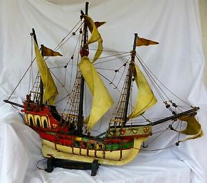 Model Sailing Ship Hand Made Historic One Of A Kind Large And Impressive