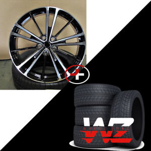 20 5 Spoke Style Machined Gunmetal Wheels With Tires Fits Toyota Camry Avalon