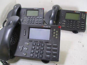 Lot Of 3 Black Shoretel Phone Ip 560 Stand Handset Included s6 T9 a6
