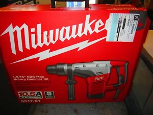 new Milwaukee 1 9 16 In Sds max Rotary Hammer 5317 21