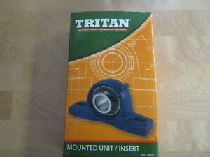Lot Of 4 Tritan Ucp208 24 1 1 2 Solid Foot Pillow Block Bearing cast Iron