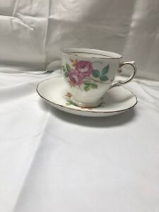 Vintage Tea Cup And Saucer Tuscan Fine Bone China Made In England