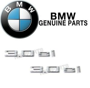 New Set Pair Of 2 Emblem 3 0si Door Genuine 51147194185 For Bmw E70 X5 07 08