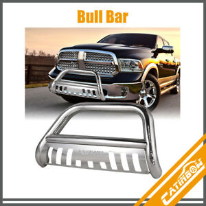 Stainless Steel Front Bull Bar Bumper Grille Guard For 2009 2016 Dodge Ram 1500