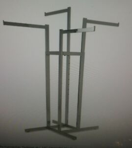 Store Display Fixtures 4 Arm Adjustable Clothing Rack