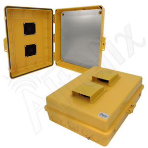 Altelix 17x14x6 Yellow Vented Nema Enclosure With Aluminum Plate Outdoor Pc abs