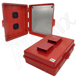 Altelix 17x14x6 Red Outdoor Vented Nema Box Pc abs Enclosure With Aluminum Plate