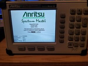 Anritsu Ms2711d 100khz To 3ghz Spectrum Analyzer W 2batteries charger new Case