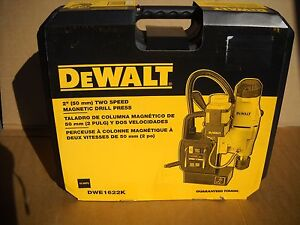 Dewalt Dwe1622k 2 2 speed Magnetic Drill Press Kit 10 Amp New