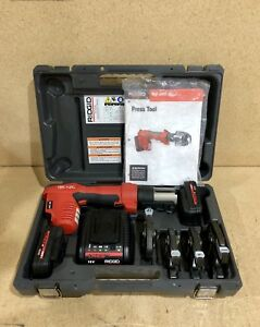 Ridgid Propress Rp 200 W charger 4x Jaws 2x Batteries And Case