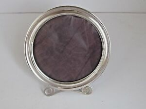 Antique Round Sterling Silver Photograph Frame 6 1 2 Diameter