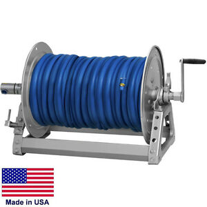 Pressure Washer Sprayer Manual Hose Reel 400 Ft 3 8 Or 300 Ft 1 2 Id Hose