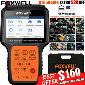 Foxwell Nt650 Elite Automotive Obd2 Scanner Abs Srs Brt Dpf Injector Tpms Epb