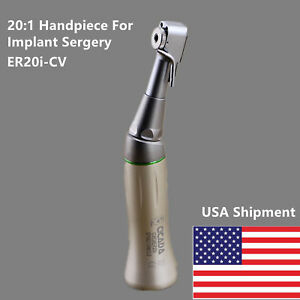 Nsk E type Dental 20 1 Reduction Speed Handpiece Implant Sergery Contra Angle Us