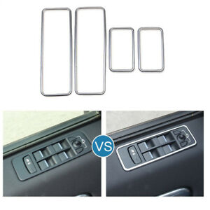 Car Door Window Switch Frame Cover Trim For Land Rover Discovery Sport 2015 2018