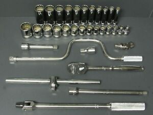 New Williams Wss 30f 30 Piece 1 2 Drive Tool Ratchet Socket Set With Extras