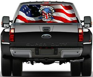 Pick up Truck Perforated Rear Windows Graphic Decal Pick Your Design